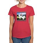 Framed Brahma Chickens Women's Dark T-Shirt