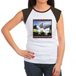 Framed Brahma Chickens Women's Cap Sleeve T-Shirt