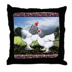 Framed Brahma Chickens Throw Pillow