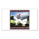 Framed Brahma Chickens Rectangle Sticker 10 pk)