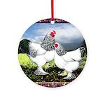 Framed Brahma Chickens Ornament (Round)