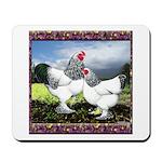 Framed Brahma Chickens Mousepad
