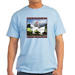 Framed Brahma Chickens Light T-Shirt