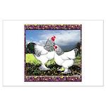 Framed Brahma Chickens Large Poster