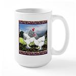 Framed Brahma Chickens Large Mug