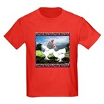 Framed Brahma Chickens Kids Dark T-Shirt