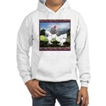 Framed Brahma Chickens Hooded Sweatshirt