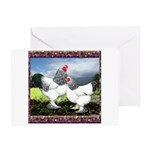 Framed Brahma Chickens Greeting Card