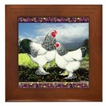 Framed Brahma Chickens Framed Tile
