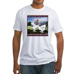 Framed Brahma Chickens Fitted T-Shirt