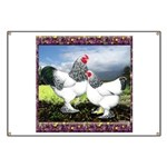 Framed Brahma Chickens Banner
