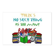 Too Many Books... Postcards (Package of 8)