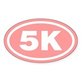 Pink 5 K Runner Oval Oval Decal