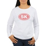 Pink 5 K Runner Oval T-Shirt