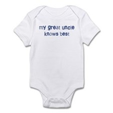 Great Uncle knows best Infant Bodysuit