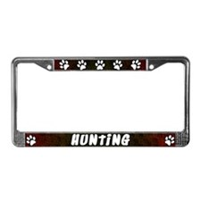 Paw Print Hunting License Plate Frame (Red)