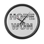 Hope Won Large Wall Clock
