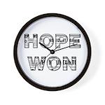 Hope Won Wall Clock