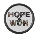 Hope Won Large Wall Clock