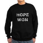 Hope Won Obama Sweatshirt (dark)