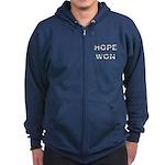 Hope Won Obama Zip Hoodie (dark)