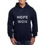 Hope Won Obama Hoodie (dark)