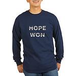 Hope Won Long Sleeve Dark Obama T-Shirt