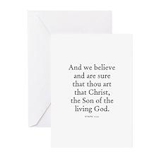 JOHN  6:69 Greeting Cards (Pk of 10)