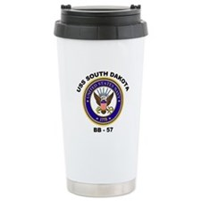 USS South Dakota BB-57 Ceramic Travel Mug