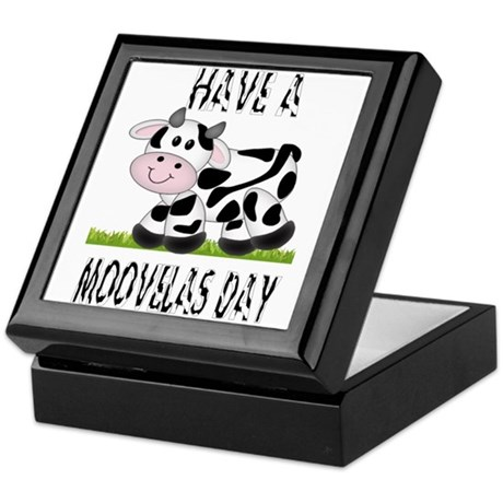 Cute Cow Moovalas day Keepsake Box