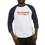 GUN CONTROL MEANS USING BOTH Baseball Jersey
