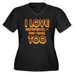 I LOVE WATERMELON AND FRIED C Women's Plus Size V-