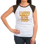 I LOVE WATERMELON AND FRIED C Women's Cap Sleeve T