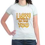 I LOVE WATERMELON AND FRIED C Jr. Ringer T-Shirt