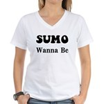 SUMO WANNA BE Women's V-Neck T-Shirt