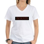 INCOGNITO Women's V-Neck T-Shirt