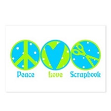 Peace, Love, Scrapbook Postcards (Package of 8)