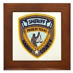 Harris County Sheriff Framed Tile