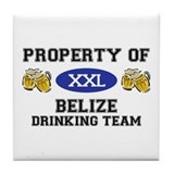 Property of Belize Drinking Team Tile Coaster