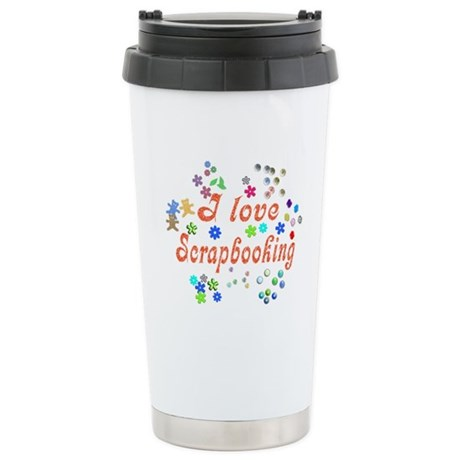 Scrapbooking Ceramic Travel Mug