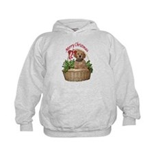 puppy in holly basket Hoodie