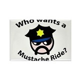 Mustache Ride Rectangle Magnet
