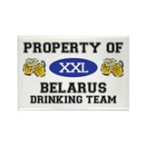 Property of Belarus Drinking Team Rectangle Magnet
