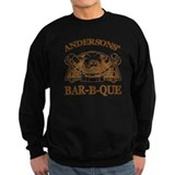 Anderson Family Name Vintage Barbeque Sweatshirt
