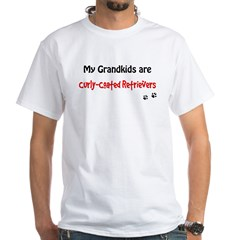 Curly-Coated Grandkids White T-Shirt