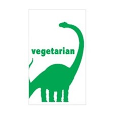 Vegetarian Brachiosaurus Rectangle Decal