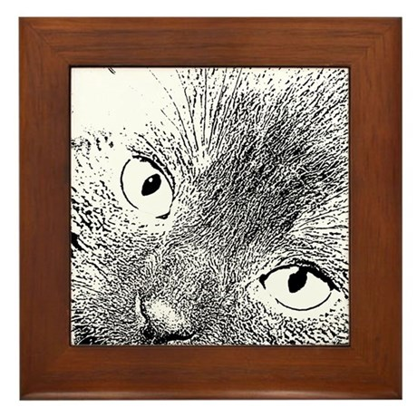 Angel Eyes Framed Tile