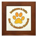 Australian Shepherd Dog Framed Tile