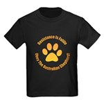 Australian Shepherd Dog Kids Dark T-Shirt