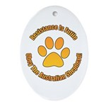 Australian Shepherd Dog Ornament (Oval)